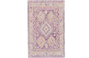 114X162 Rug-Magenta Traditional Native Print