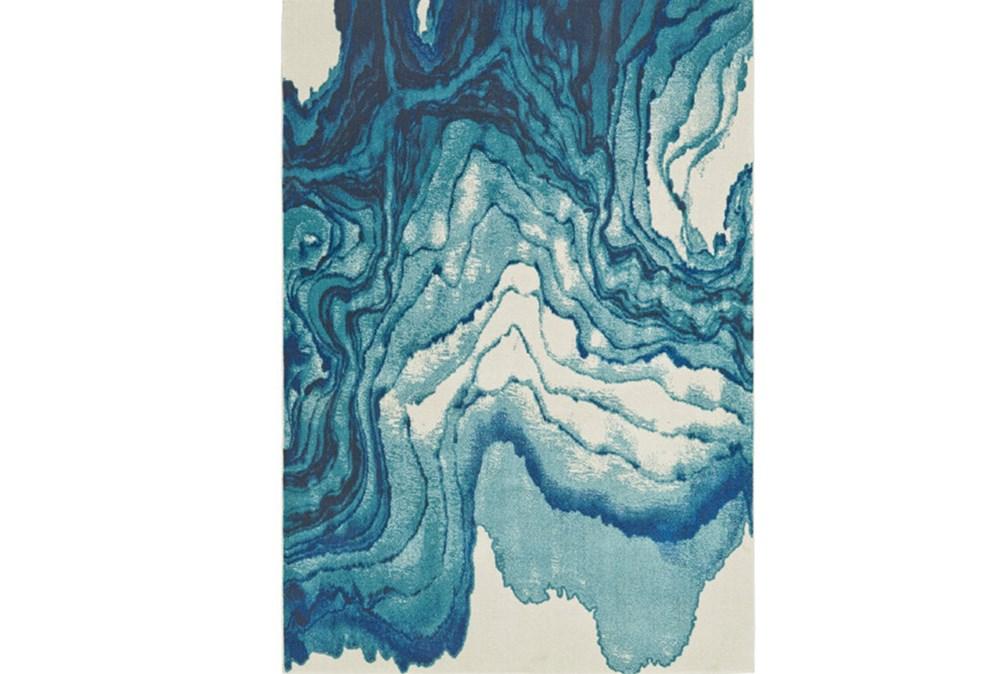 96X132 Rug-Cobalt Watercolor Tide