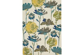 120X158 Rug-Cobalt And Yellow Floral