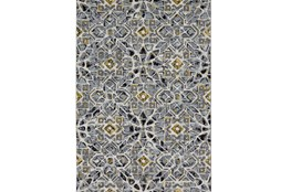 60X96 Rug-Grey And Yellow Moroccan Tile
