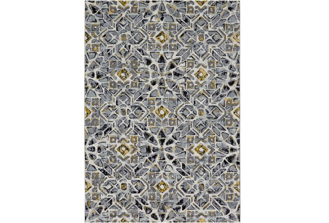 60X96 Rug-Grey And Yellow Moroccan Tile - 360