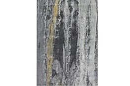 96X132 Rug-Grey And Yellow Faux Bois