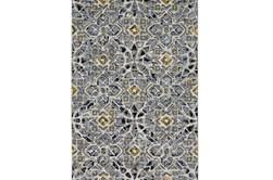 96X132 Rug-Grey And Yellow Moroccan Tile
