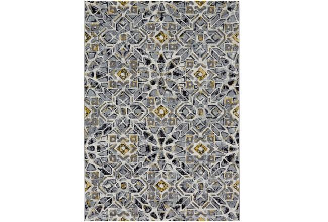 96X132 Rug-Grey And Yellow Moroccan Tile - 360