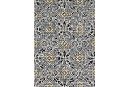 120X158 Rug-Grey And Yellow Moroccan Tile
