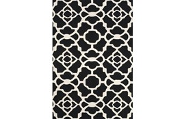 24X36 Rug-Black And White Garden Gate