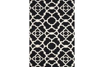 60X96 Rug-Black And White Garden Gate