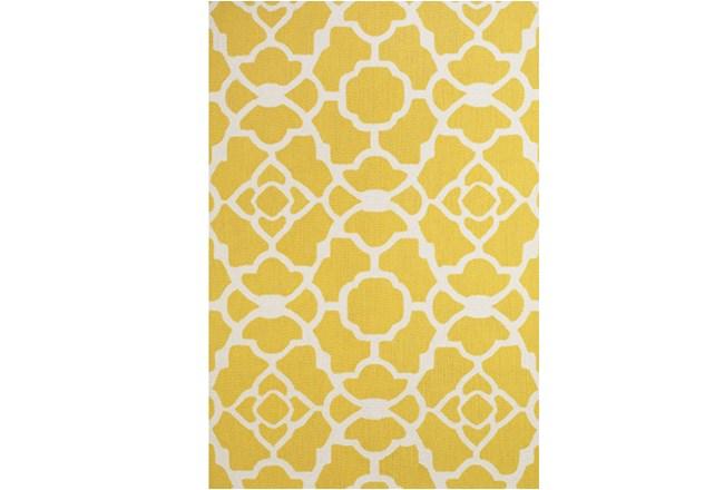 60X96 Rug-Yellow And White Garden Gate - 360