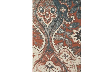 96X132 Rug-Yves Orange And Blue