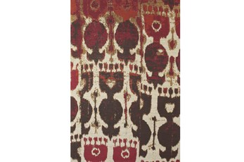 96X132 Rug-Yves Red And Brown