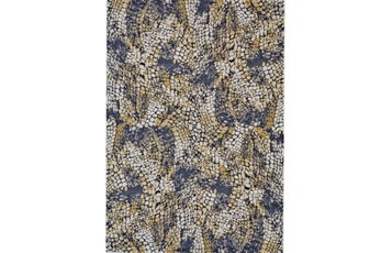 60X96 Rug-Charcoal And Yellow Crackle