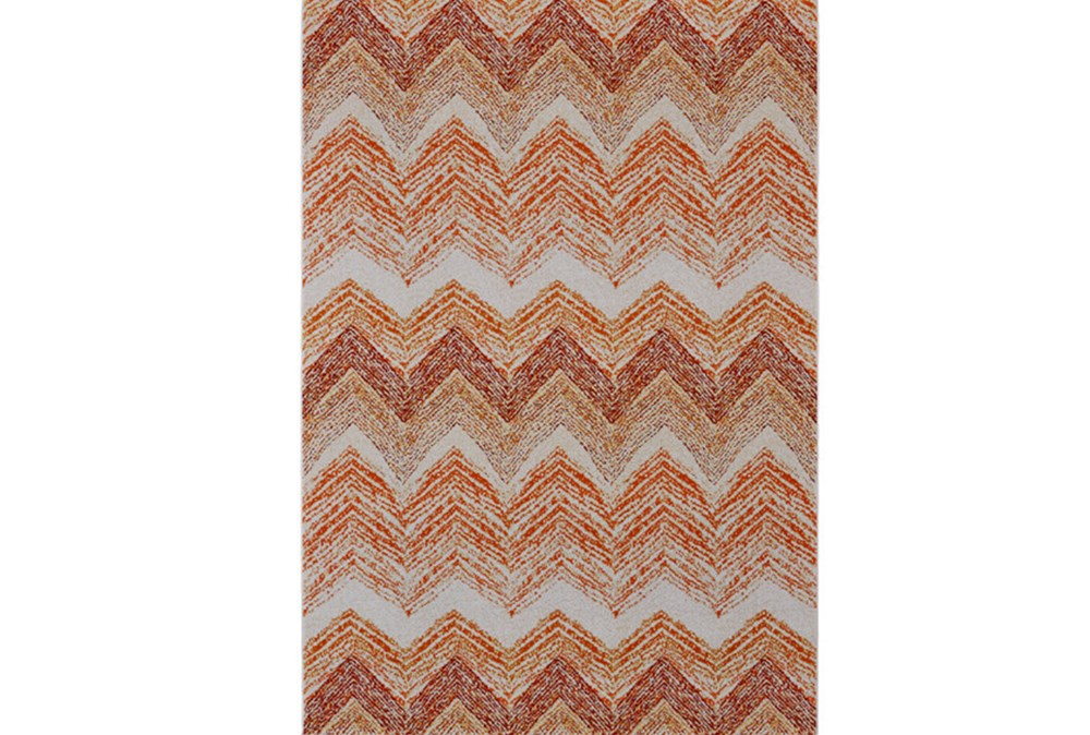 96X132 Rug-Orange Ombre Chevron