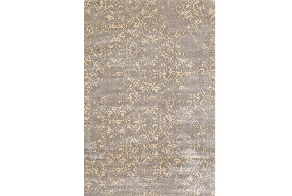 60X90 Rug-Taupe And Buttercream Faded Tapestry