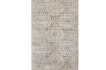 60X90 Rug-Grey And Buttercream Faded Medallions