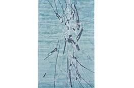 96X132 Rug-Reversible Aqua Splatter