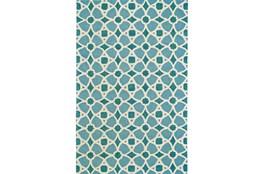 42X66 Rug-Aqua And Blue Moroccan Tile