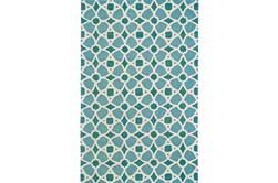60X96 Rug-Aqua And Blue Moroccan Tile