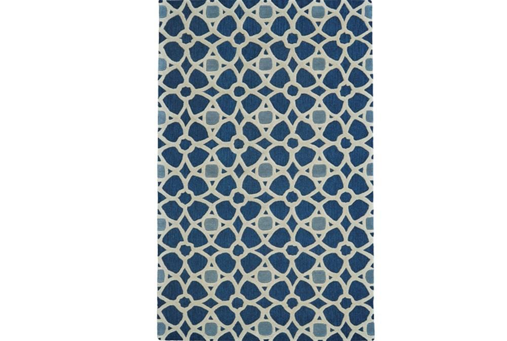 60X96 Rug-Indigo Moroccan Tile