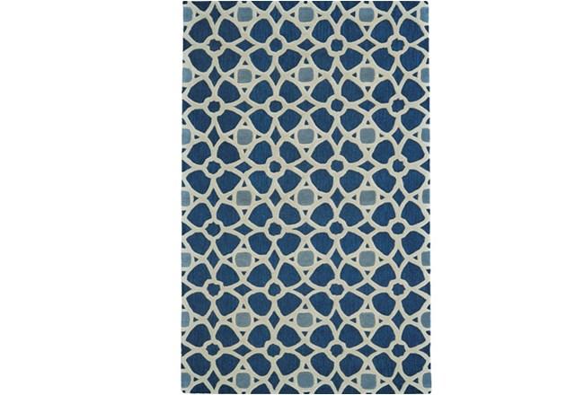 60X96 Rug-Indigo Moroccan Tile - 360