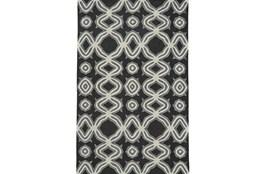 114X162 Rug-Black Tribal Print