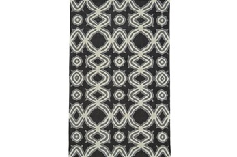 114X162 Rug-Black Tribal Print
