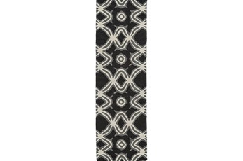 30X96 Rug-Black Tribal Print