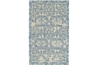 24X36 Rug-River Blue Distressed Tapestry