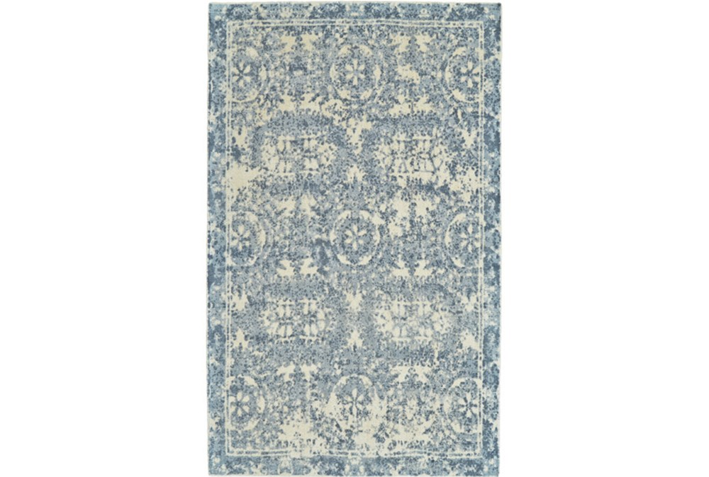 60X96 Rug-River Blue Distressed Tapestry