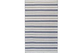 96X132 Rug-Recycled Pet Navy Pin Stripes
