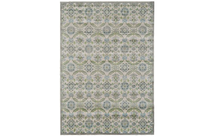 60X96 Rug-Spa And Green Small Floral Medallions - 360