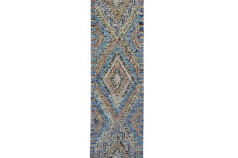 30X96 Rug-Cornflower And Orange Acantha