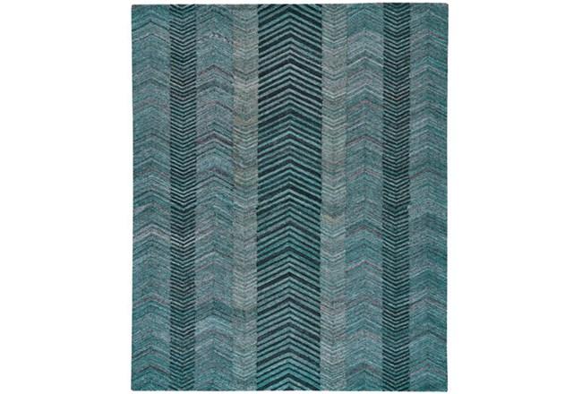 60X96 Rug-Turquoise And Charcoal Herringbone - 360