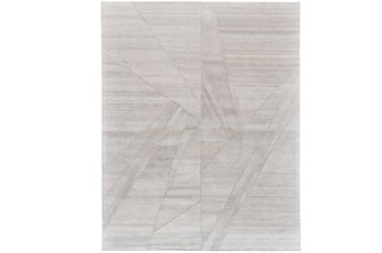 60X96 Rug-Light Grey Abstract Pleats