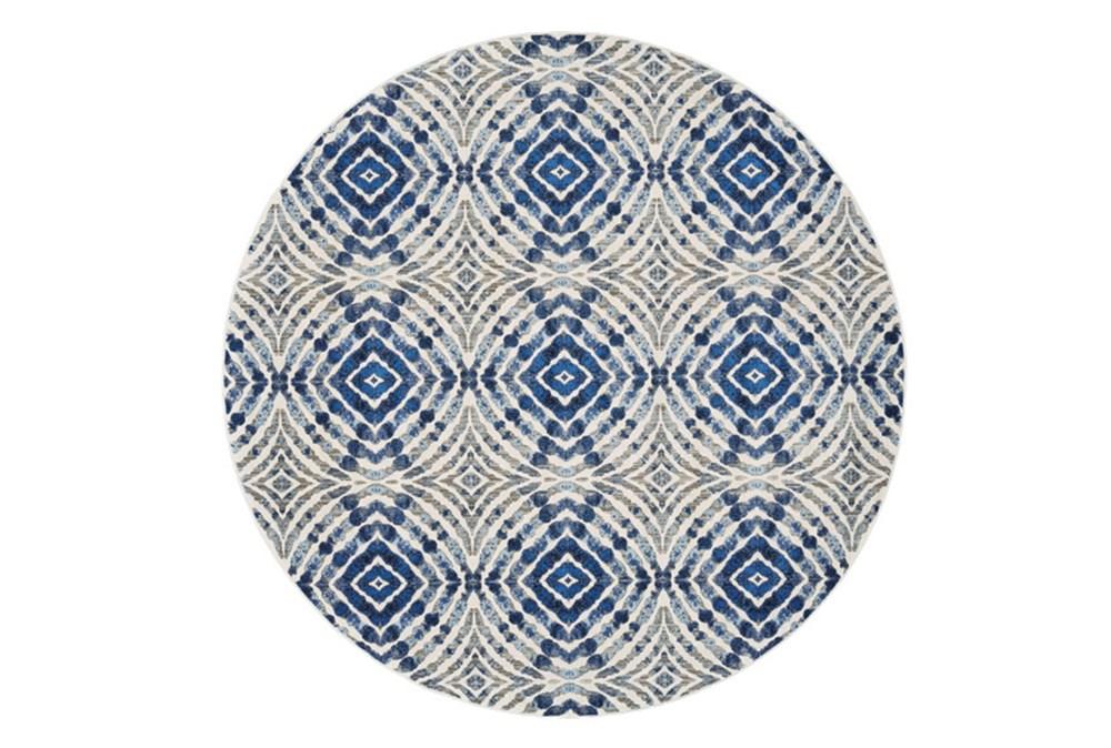 105 Inch Round Rug-Royal Blue Kaleidoscope