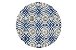 105 Inch Round Rug-Royal Blue Kaleidoscope