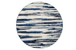 105 Inch Round Rug-Royal Blue Watermark Strie