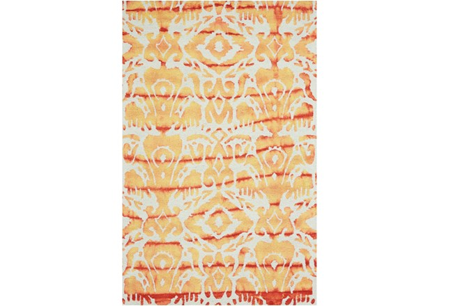 24X36 Rug-Orange Tie Dye Ikat - 360