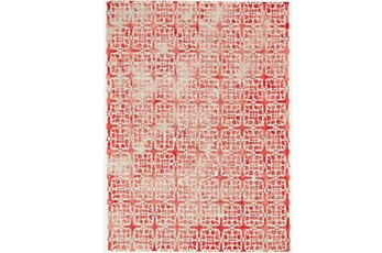24X36 Rug-Red Tie Dye  Cubes