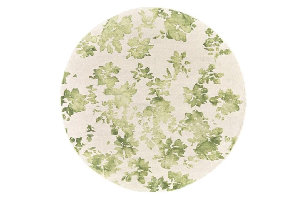120 Inch Round Rug-Green Tie Dye Greenery