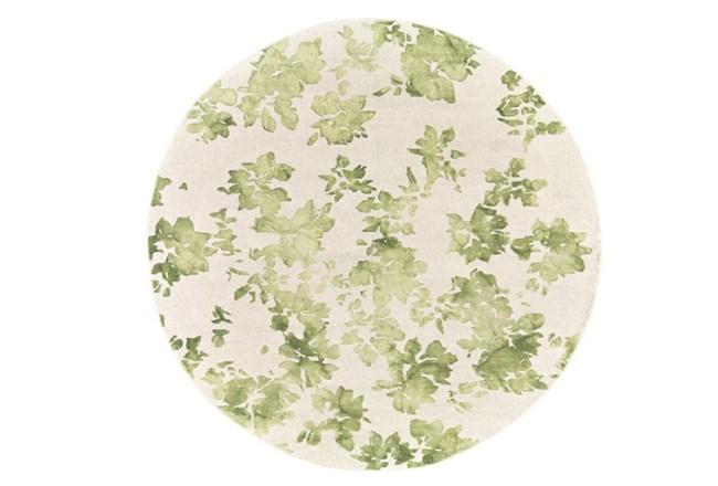 120 Inch Round Rug-Green Tie Dye Greenery - 360