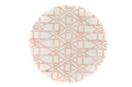 120 Inch Round Rug-Blush Pink Tie Dye Trellis