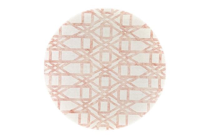 120 Inch Round Rug-Blush Pink Tie Dye Trellis - 360