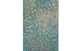 94X132 Rug-Aqua And Green Tangled Web