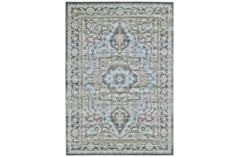 120X158 Rug-Spa And Green Global Traditional Pattern