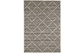 120X158 Rug-Charcoal Distressed Diamonds