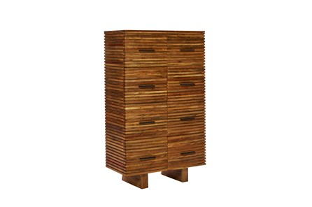 Corrugated Natural 8-Drawer Chest