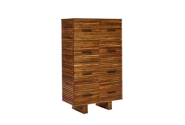Corrugated Natural 8-Drawer Chest - 360