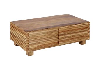 Corrugated Natural Sliding Door Coffee Table