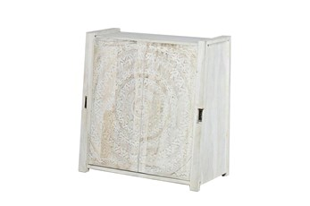 Carved Lace Sliding Door Cabinet