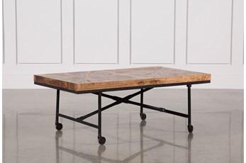 Pinwheel Wheeled Coffee Table